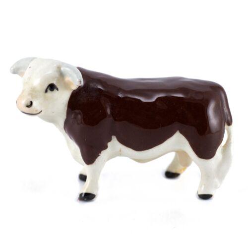 Vintage Hagen Renaker Hereford Bull #357 Miniature Ceramic Cow Figurine