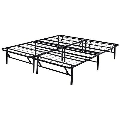 Platform California King Size Bed Frame Metal Steel 14 Inch Mattress Foundation California King Steel Bed