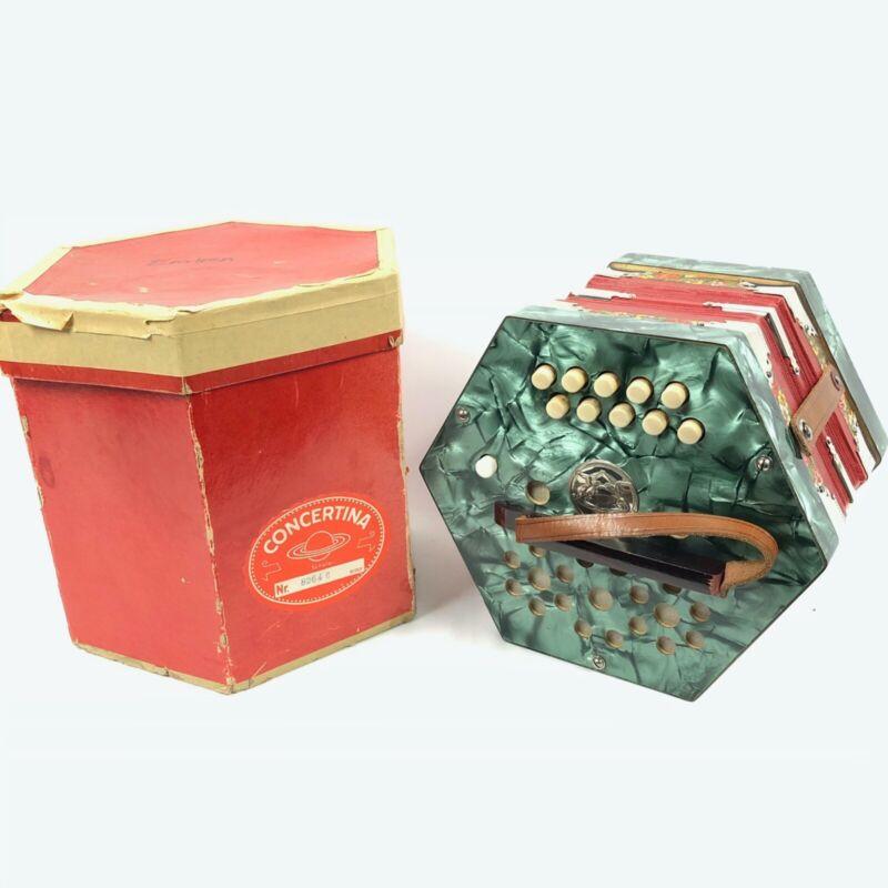 Scholer Antique East German Concertina - 20 Button - Excellent Condition - w/Box