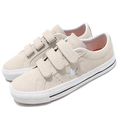 Converse One Star Pro 3V OX Egret White Strap Men Women Unisex Shoes 162520C Star White Footwear