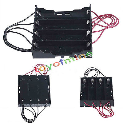 Plastic Battery Holder Storage Box Case For 4x 18650 Rechargeable Battery 1Pc