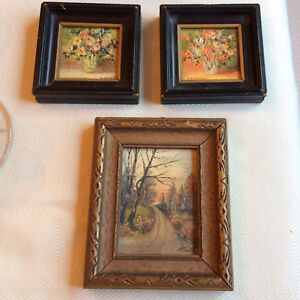Mini Oil Paintings - vintage