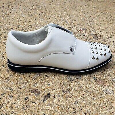 NEW GFore Elastic Gallivanter Golf Shoes Womens 8 Stud Toe SNOW TWILIGHT Leather