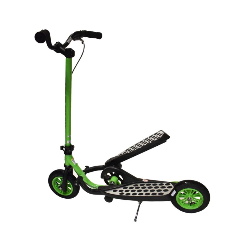 Zike Fly Range Motion Portable Scooter Stepper Bike for Youth - Green