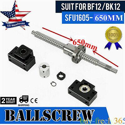 Antibacklashed SFU1604-290mm-C7 End Machine Ball Screw /& Single Flange BallNut