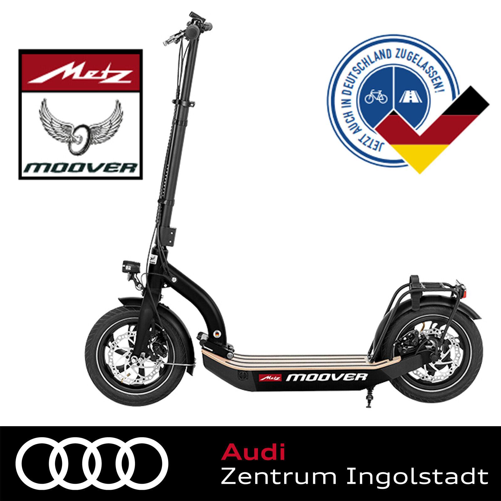 Metz moover E-Scooter Schwarz bis 20 km/h 090170044, eScooter, E Roller, Elektro