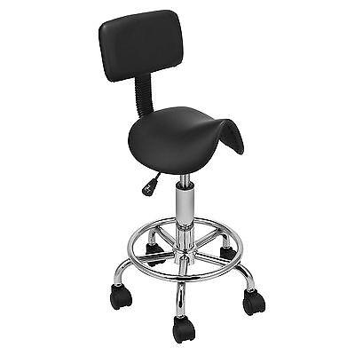 Salon Stool Chair Spa Tattoo Beauty Manicure Equipment Backrest Hydraulic Saddle