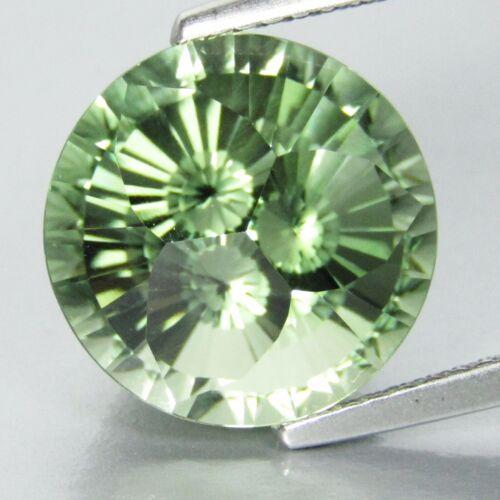 "7.72Ct Natural Green Amethyst (prasiolite) Round Precision Cut Loose Gem ""Ref"