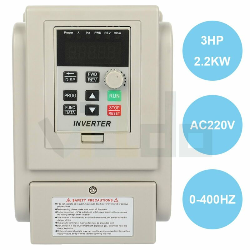 3HP 220V 2.2KW Variable Frequency Drive Inverter VFD Single to 3 Phase Output