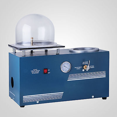 1/2HP 3CFM Jewelry Lost Wax Cast Combination Vacuum Investing Cast Machine 110V for sale  China