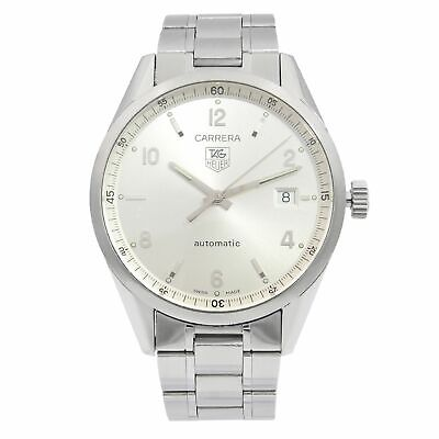 Tag Heuer Carrera Stainless Steel Silver Dial Automatic Mens Watch WV211A.BA0787