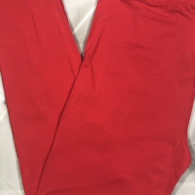 PLUS Size Solid Red Buttery Soft Leggings Pants 12-18 TC Valentines - Plus Size Red Leggings