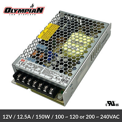 Mean Well Lrs-150-12 Switch Power Supply For Camera Monitor Led 150w 12v