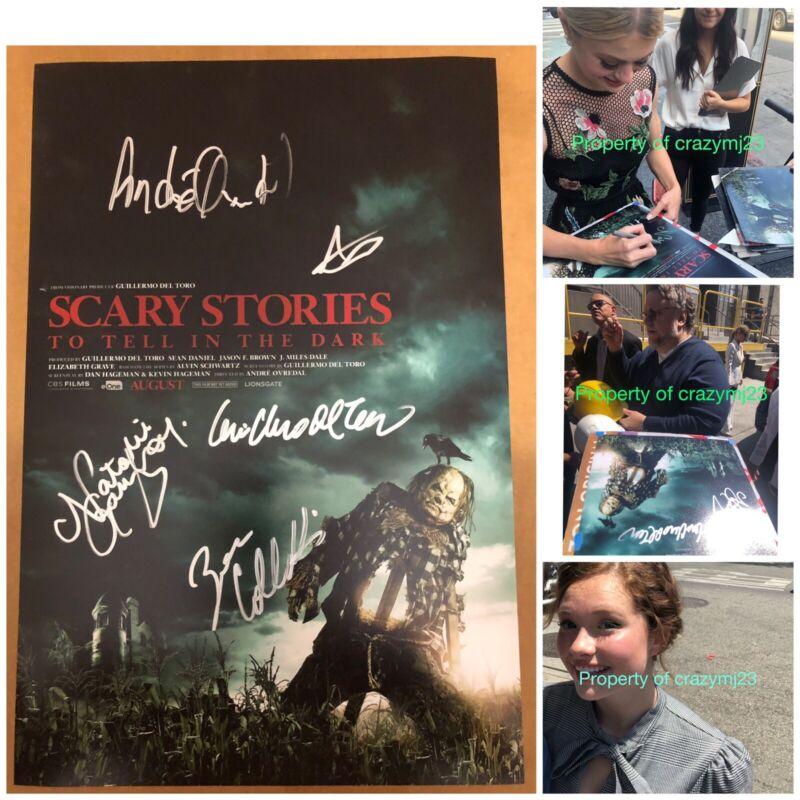 5 Signed Scary Stories to Tell in the Dark Guillermo Del Toro Zoe Colletti Auto