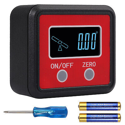 360 Level Box Gauge Digital Lcd Protractor Inclinometer Magnetic Angle Finder