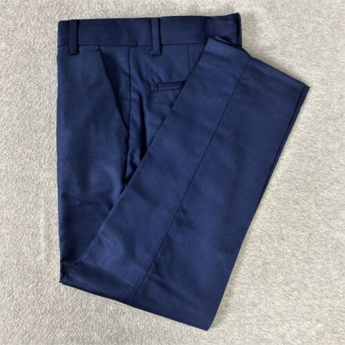 Calvin Klein Boys Dress Pants Navy Flat Front School Uniform Size 8