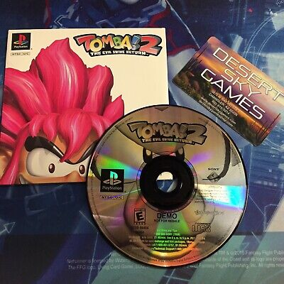 Sony Playstation TOMBA! 2 THE EVIL SWINE RETURN Demo Disc NFR Complete Near Mint