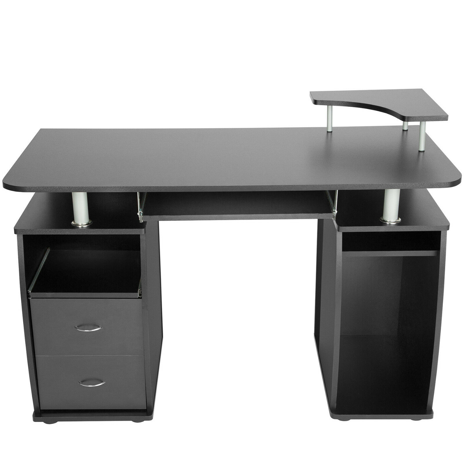 bureau informatique table de l 39 ordinateur travail mobilier meubles pc noir eur 89 90 picclick fr. Black Bedroom Furniture Sets. Home Design Ideas