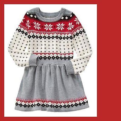 NWT Gymboree Holiday Shop  Fair Isle Dress Size  7 Girls - Girl Dress Shops