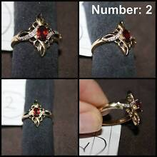2. Garnet and diamond ring Newcastle Newcastle Area Preview