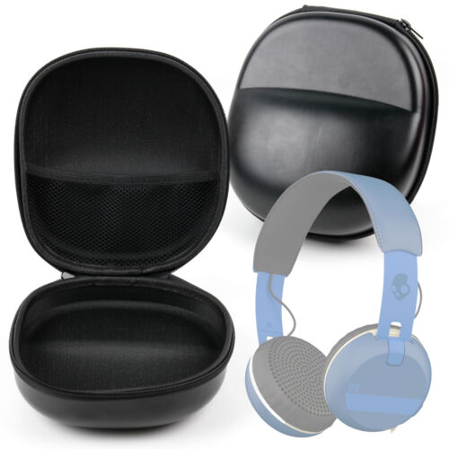 Hard Black Eva Headphone Case For Skullcandy Grind, Uproar Wireless & Navigator
