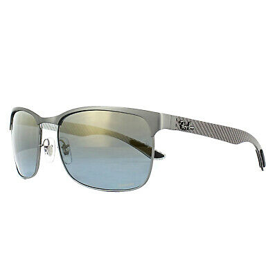 Ray-Ban Sunglasses RB8319CH 9075J0 Gunmetal Blue Mirror Polarized Chromance