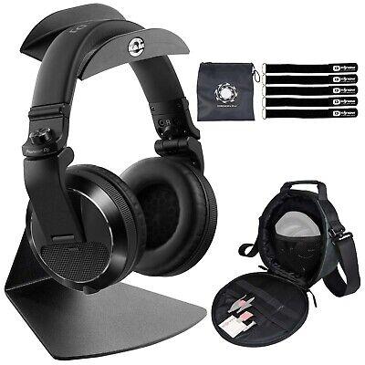 Pioneer HDJ-X7-K Over Ear Black Pro DJ Headphones w/ Table Stand + Carry Case