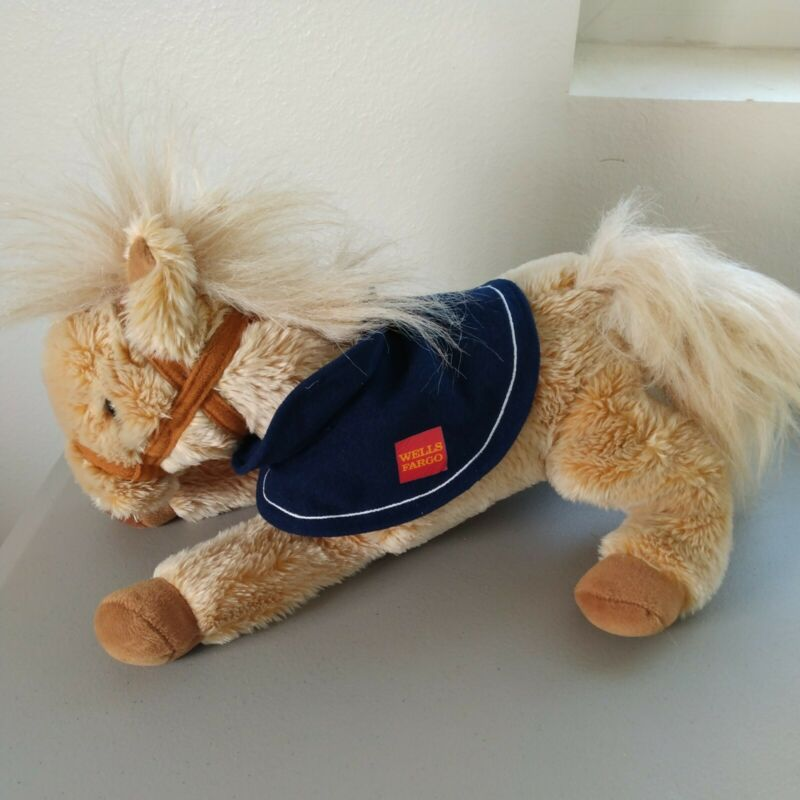 "Wells Fargo Legendary Pony Nellie Plush Stuffed Animal 14"" Tan Horse 2015 NO TAG"
