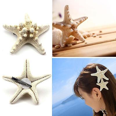 Fashion Mermaid Ariel Hair Clip Sea Star Hair Accessory Halloween Ariel Hairpin