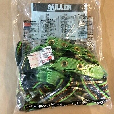 Miller by Honeywell P950-77//XXLGN Duraflex Python Full-Body Ultra Harness with tongue Buckle Leg Straps and tool Belt Loops XX-Large Green