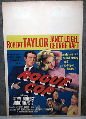 ROGUE COP original 1954 movie poster ROBERT TAYLOR/JANET LEIGH/ANNE FRANCIS