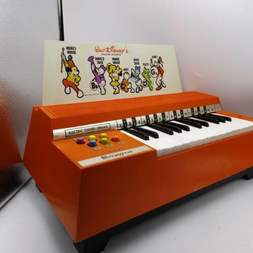 Vintage Disney MAGNUS Portable Electric Chord Organ Model 624 Orange
