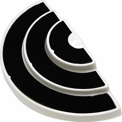 New 36 Slot 3 Tier Blackwhite Ring Display Foam Jewelry Stand