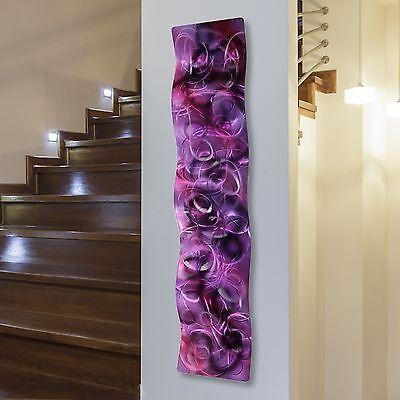 Metal Abstract Modern Painting Wall Art Sculpture Purple Majesty Wave Jon Allen