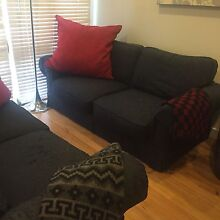 2x navy blue 2 seater couches Enfield Burwood Area Preview