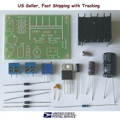 Lm317 Adjustable Power Supply With Rectifier Diy Kit Acdc Input - Us Seller