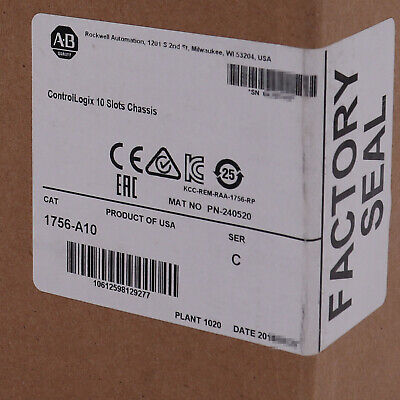 Allen-bradley Controllogix 10 Slots Chassis 1756-a10 Us Stock Factory Sealed