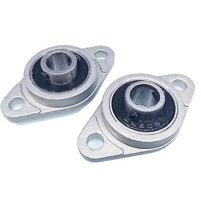 Us Stock 2pcs 8mm Bore Kfl08 Fl08 Pillow Block Bearing Flange Block Bearings