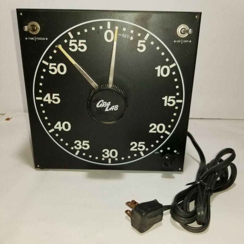 GraLab Darkroom Timer Model 300 Black Tested & Works
