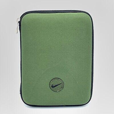 Vintage Nike Swoosh Mead Hunter Forest Green Hard Case Shell Zip Around Planner