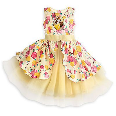 Disney Store Belle Celebration Party Dress Girls Beauty & Beast Holiday Costume - Party Costume Store