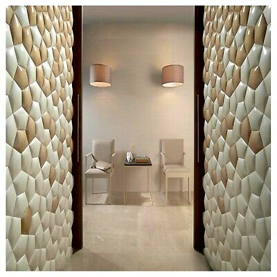 Polyurethane Mold Form Paola Decorative Imprint Concrete Cement Design Wall