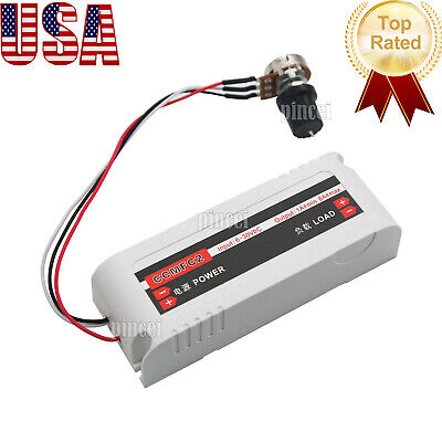Dc Motor Speed Controller Switch 12v24v 8a For Ventilation Fanpumpoven Usa
