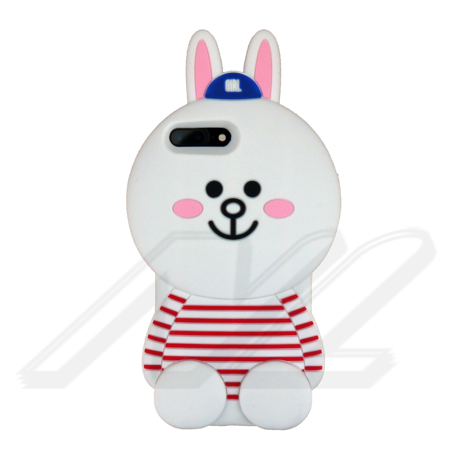 3D Cartoon Doll Soft Silicone Rubber TPE iPhone 78  Plus Cell Phone Case Cover