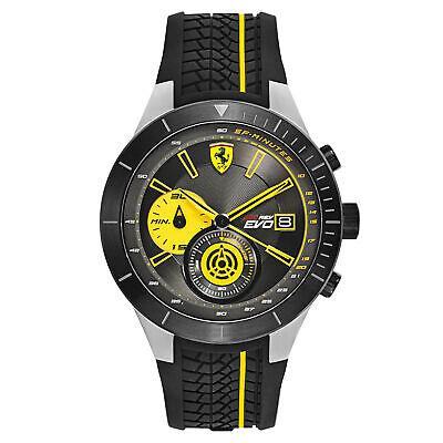 Ferrari Men's 830342 RedRev Evo Chronograph 45mm Steel Rubber Watch 0830342
