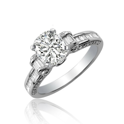 GIA Certified Diamond Engagement Ring 2.50 Carat Cushion Cut 18k Gold