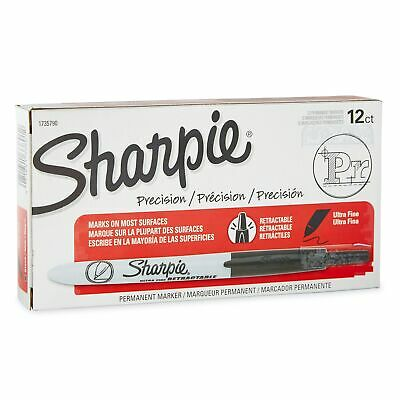 Sharpie Retractable Permanent Markers Ultra Fine Point Black 710856