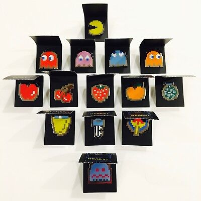 Pac Man Enamel Pin Collection Cmd Collectibles Full Set Of 14 Bandai Namco New