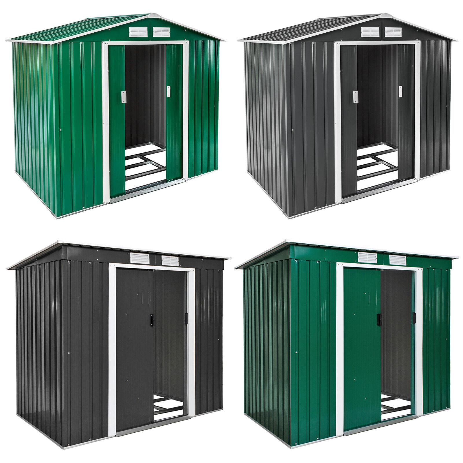 Box casetta metallo per giardino serra attrezzi capanno capannone + fondazione