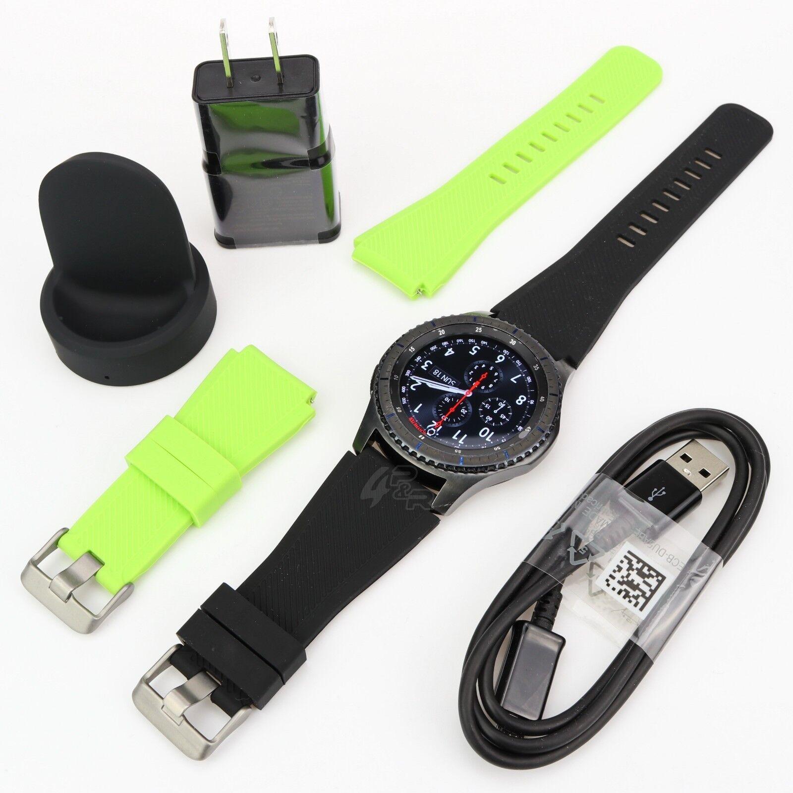 Samsung Gear S3 SM-R760 Frontier Wi-fi Smart Watch w/ 2 Generic Size Bands